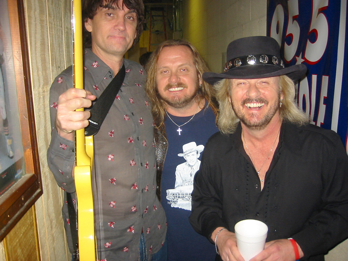 Pat with Johnny Van Zant (Lynyrd Skynyrd), and Donnie Van Zant (.38 Special) Nashville, January 2007.   Photo by Billy T Mason